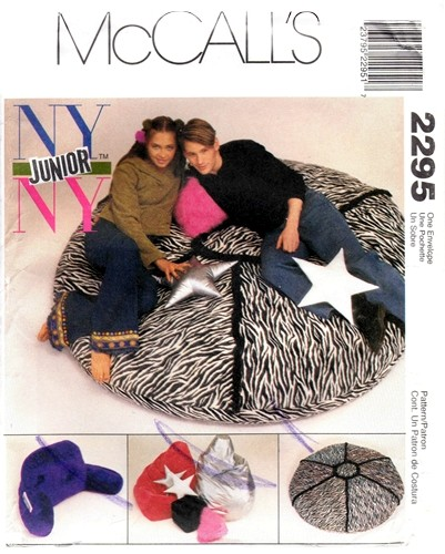 Featured New Is A Walk Down Memory Lane McCalls 2295 Bean Bag Pillow Chair Back Rest Pillows 1999 And This Scarce Pattern So If You Are Looking